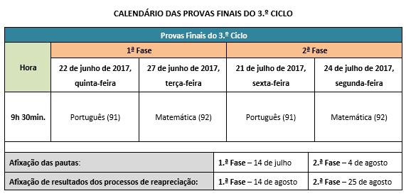 calendário escolar 2016-2017 5x